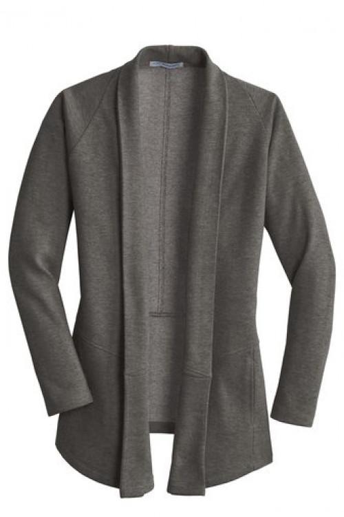 Ladies Interlock Cardigan - L807 - Gray