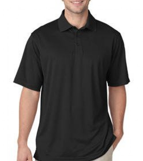 UltraClub Men's Jacquard Stripe Polo