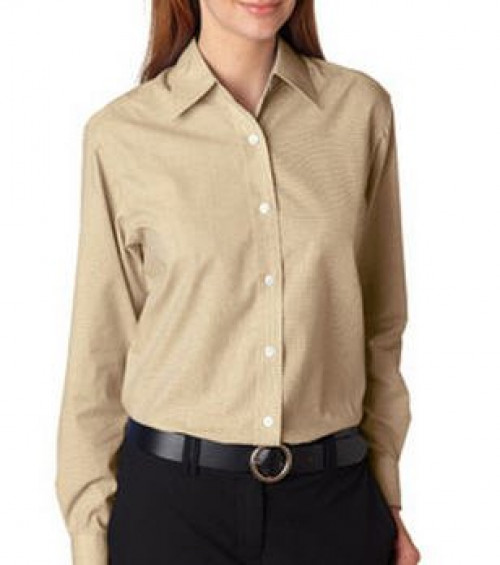 UltraClub Ladies' Wrinkle-Free End-on-End Shirt
