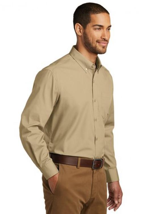 Port Authority® Long Sleeve Carefree Poplin Shirt - W100