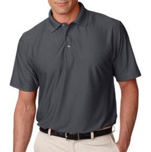 UltraClub Men's Elite Tonal Stripe Performance Polo