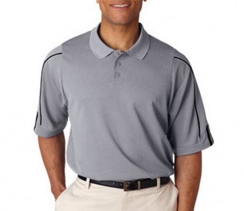 Adidas Men's ClimaLite 3-Stripes Cuff Polo