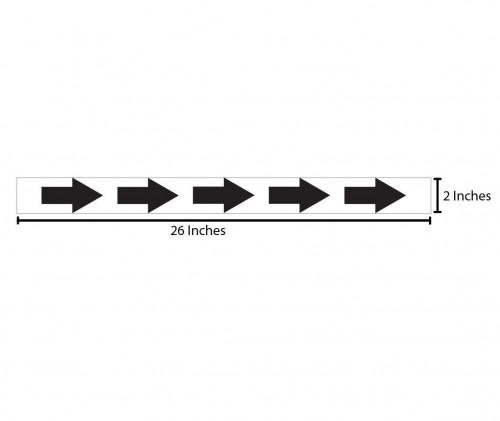Horizontal Arrows Reflective Sticker - Black