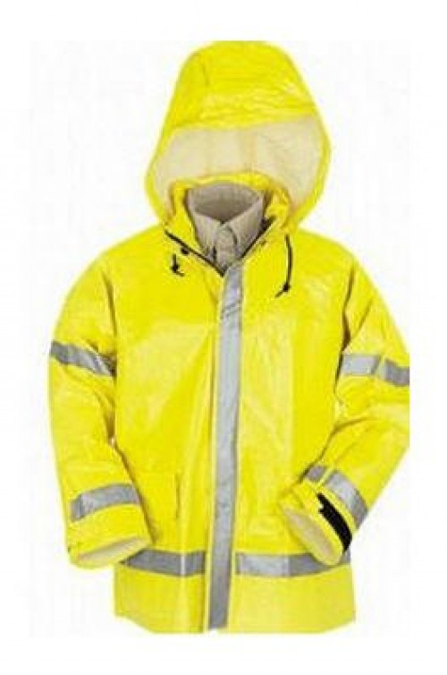 Hi-Visibility Flame Resistant Rain Jacket