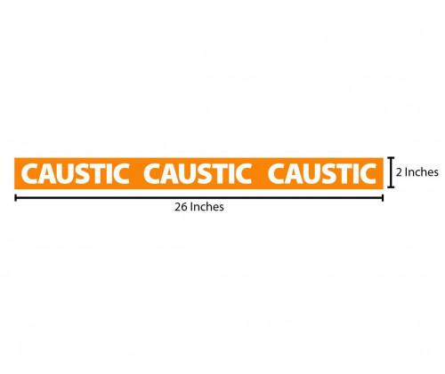Caustic Reflective Sticker - Orange