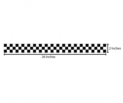 Checkered Reflective Sticker - Black