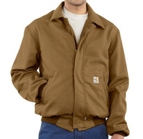 Carhartt Men's Flame-Resistant Duck Bomber Jacket