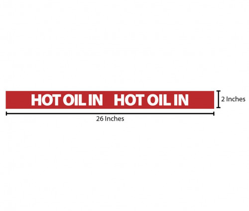 Hot Oil In Reflective Sticker - Red