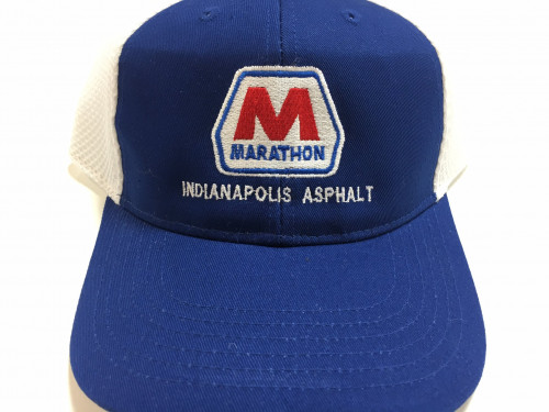 Marathon Logo with Custom Location Embroidered on Baseball Hat