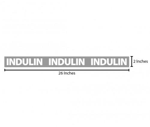 Indulin Reflective Sticker - Grey