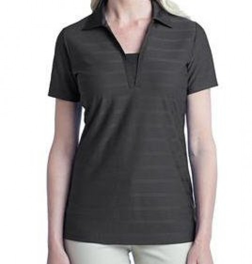 Port Authority Ladies Horizontal Texture Polo