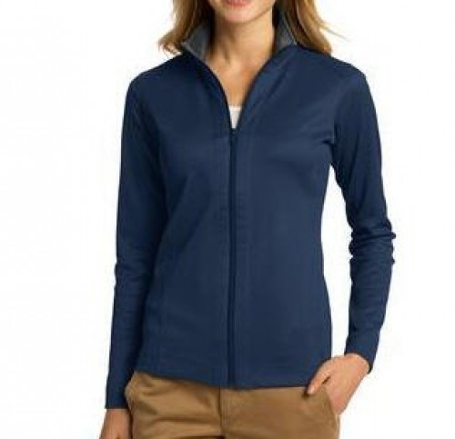 Port Authority Ladies Vertical Textured Full-Zip Jacket