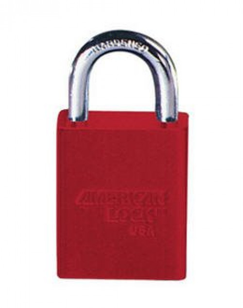 Lockout Padlock, KA, Red 1/4in Shackle Dia