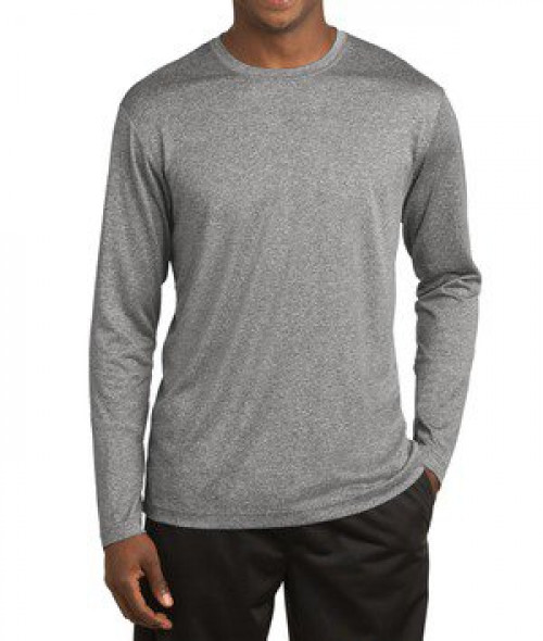 Sport-tek Long Sleeve Heather Contender
