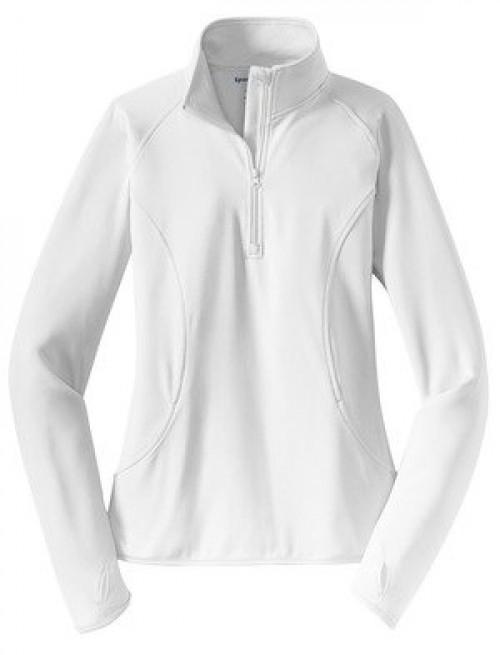 Sport-Tek Ladies Sport-Wick  Stretch 1/2-Zip Pullover