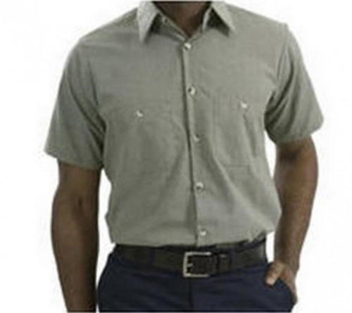 Microcheck Short Sleeve Industrial Work Shirts