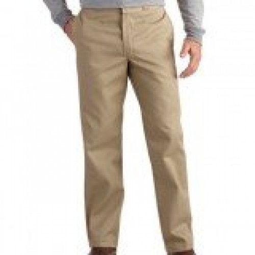 Dickies Khaki Blended Non Pleated Work Pant