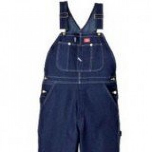 Dickies Indigo Denim Bib Overall-Garment Washed