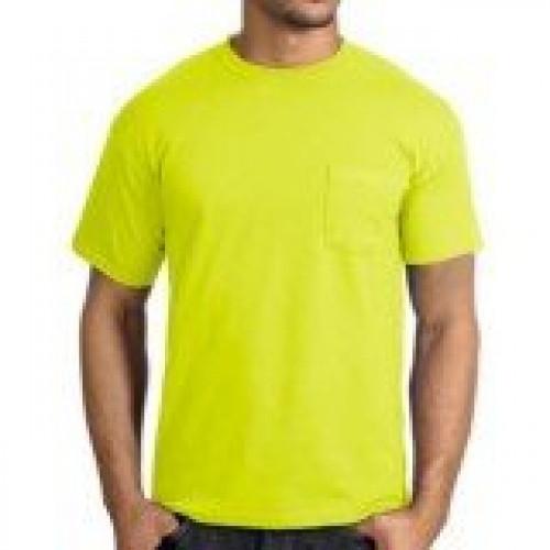 Safety Yellow Pocket Tee Shirt