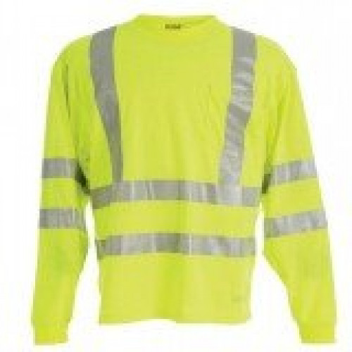 Berne Hi-Visibility Long Sleeve Pocket Shirt