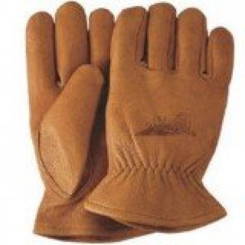 Carmel Buckskin Leather Gloves