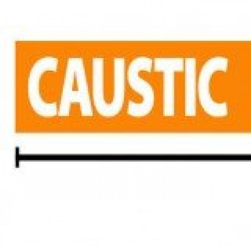 Caustic Reflective Sticker - Orange