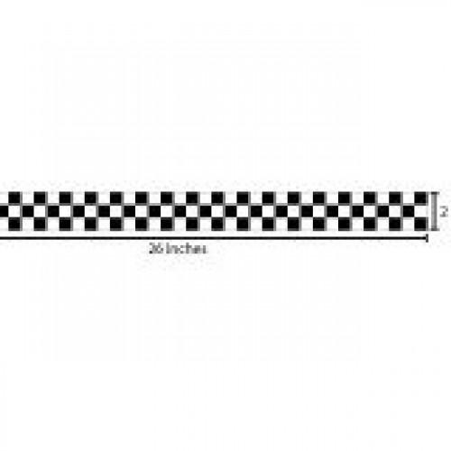 Checkered Reflective Sticker - Black