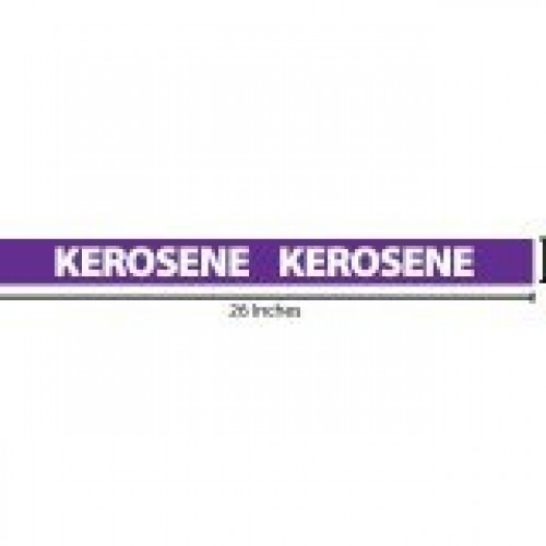 Kerosene Reflective Sticker - Purple