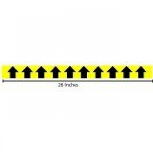 Vertical Arrows Yellow Reflective Sticker