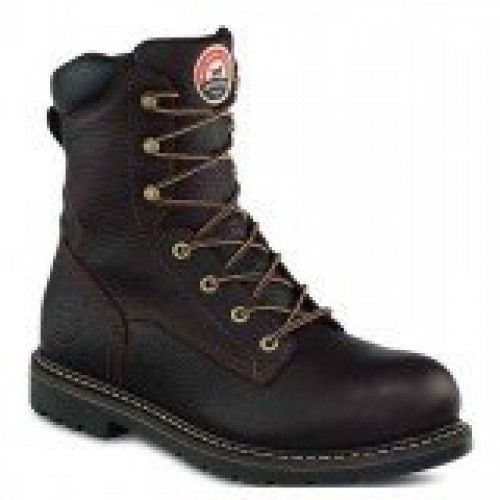 Irish Setter Brown Leather 8'' Aluminum Toe Boot
