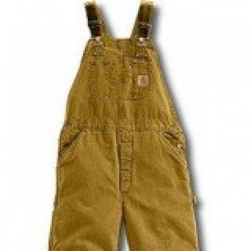 Carhartt Brown Quilt Lined Sandstone Bib Overall