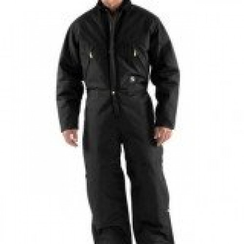 Carhartt X06 Black Extreme Arctic Quilt Lined Duck Coverall
