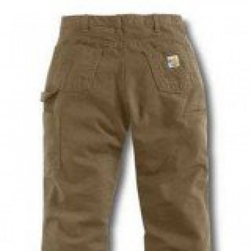 Carhartt Women s Flame-Resistant Relaxed-Fit Canvas Golden Khaki Jean