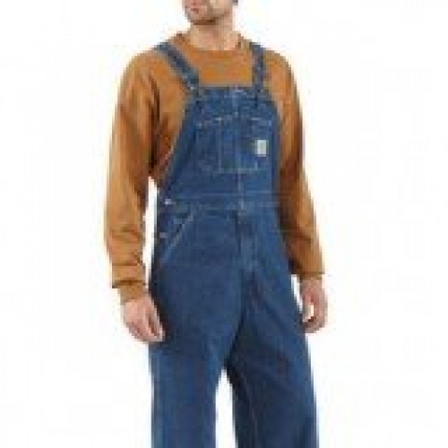 Carhartt Washed Denim Unlined Bib/Overall