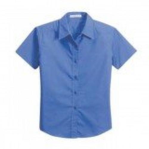 Port Authority Ladies Soil Resistant Short Sleeve Shirt