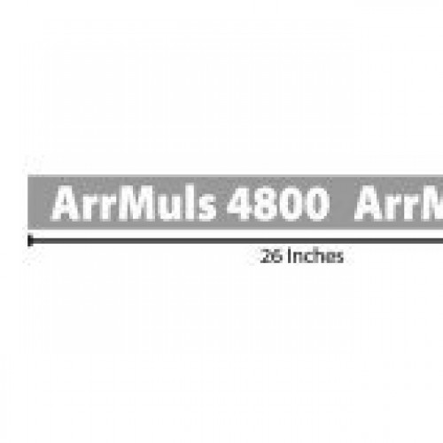 ArrMuls 4800 Reflective Sticker - Grey