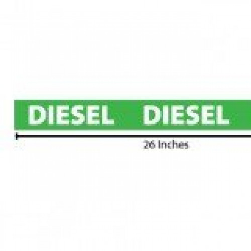 Diesel Reflective Sticker - Green