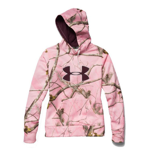 Ladies Under Armour Camo Big Logo Hoodie
