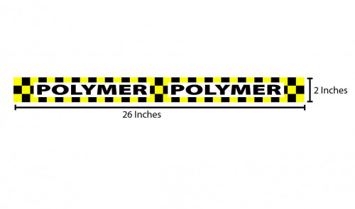 Polymer Reflective Sticker - Black & Yellow Checkers