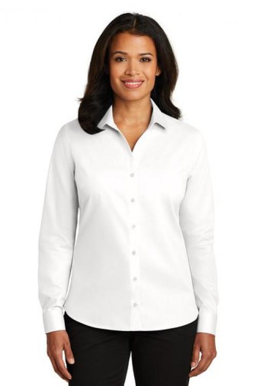 Ladies Non Iron Twill Shirt - RH79 - White