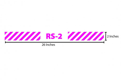 RS-2 Reflective Sticker - Magenta Stripes