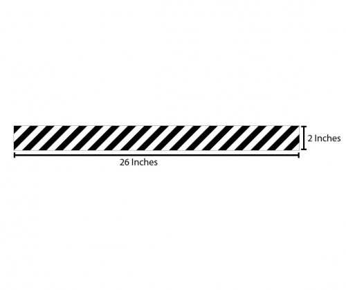 Stripes Reflective Sticker - Black