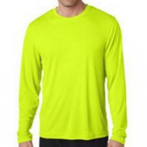Long Sleeve Tee Shirt Safety Yellow