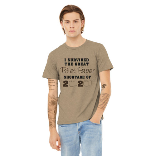 """Toilet Paper Shortage Coronavirus Funny T-shirt """"I Survived the Great Toilet Paper Shortage of 2020"""""""
