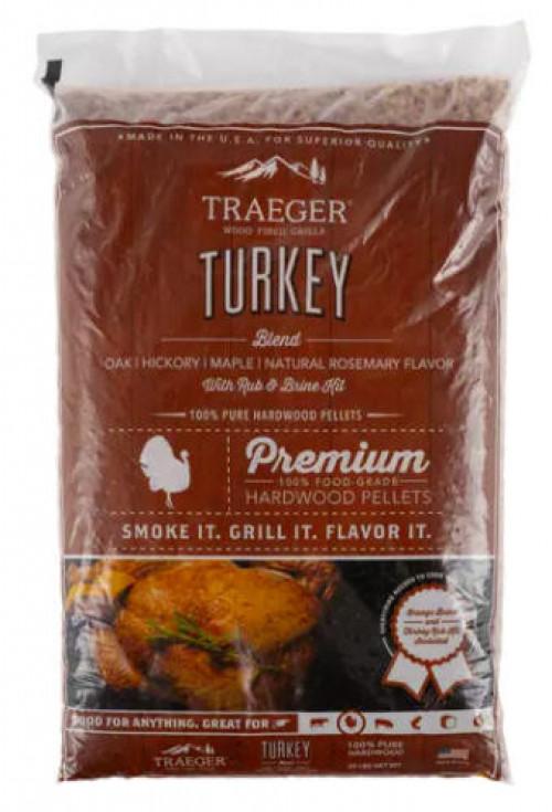 TRAEGER TURKEY BLEND W/ BRINE KIT WOOD PELLETS