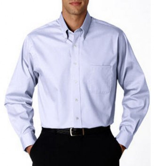 Van Heusen Men's Long-Sleeve Blended Pinpoint Oxford
