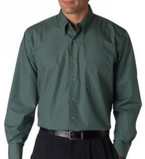 Van Heusen Men's Long-Sleeve Silky Poplin