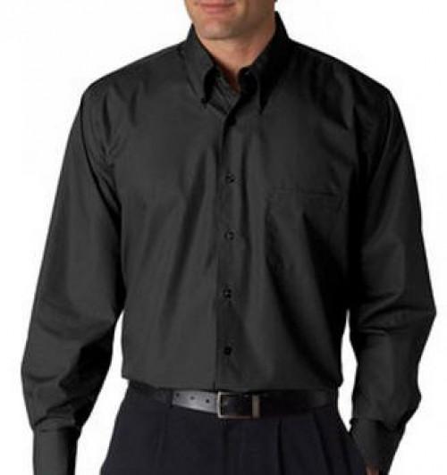 Van Heusen Men's Long-Sleeve Silky Poplin