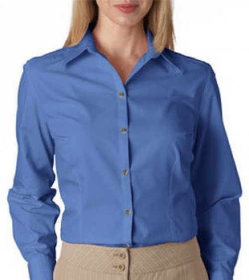 Van Heusen Ladies' Long-Sleeve Silky Poplin