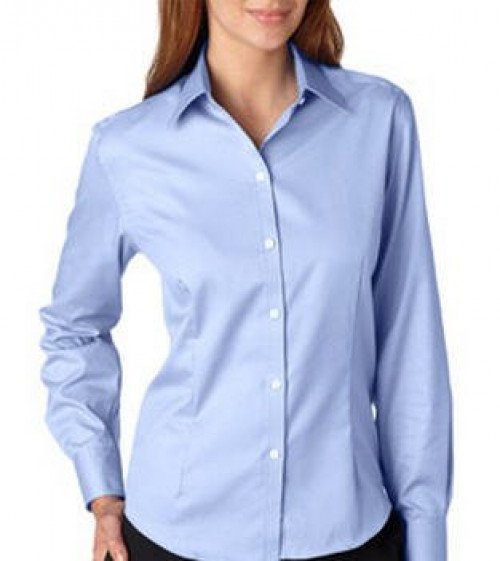 Van Heusen Ladies' Long-Sleeve Non-Iron Pinpoint Oxford